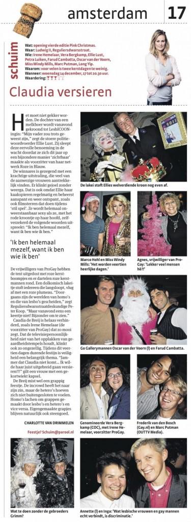 Schuim Parool - Opening Pink Christmas LesbICOONingin