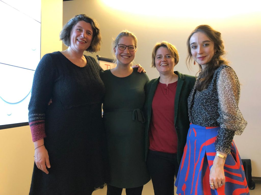 bestuur sinds 2018 Irene, Barbara, Monique en Quirine